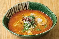 甘エビのみそを煮詰めた濃厚スープ ...